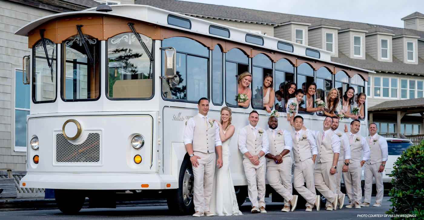 Obx Wedding Transportation Stella Obx Wedding Trolley